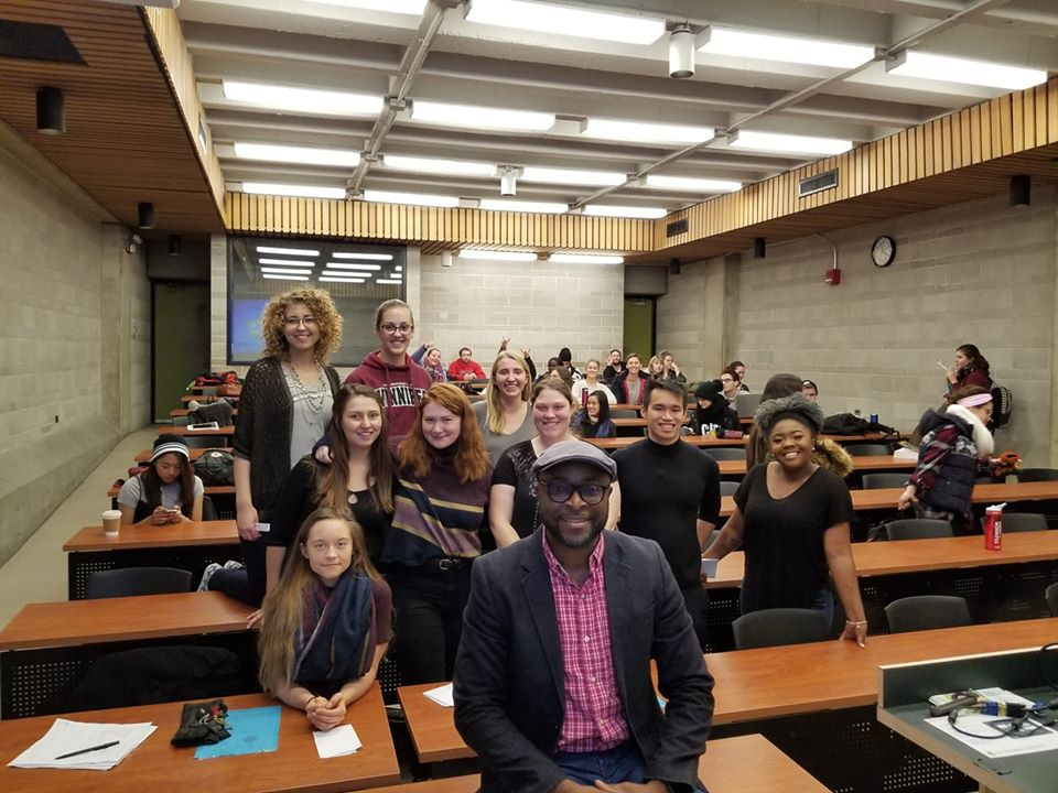 With my students at the University of Winnipeg